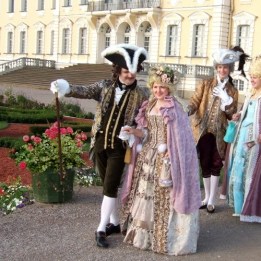 Receiving guests in Rococo style